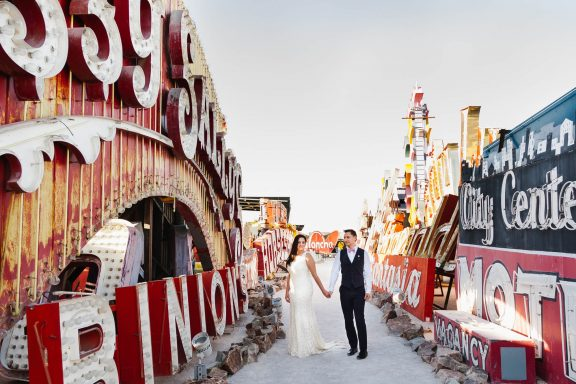 neon museum wedding lovevegasweddings